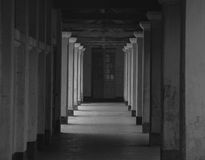 Dark hall at the French-style building in Dalat, Vietnam.  Stock Photography