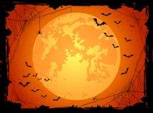Dark Halloween background with bats Stock Photos