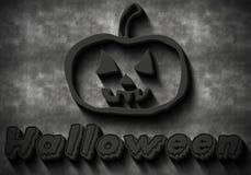 Dark Halloween inscription Stock Image