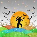 Dark Halloween poster Royalty Free Stock Image
