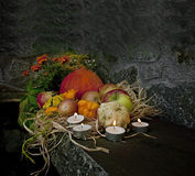 Dark halloween still life Stock Photo