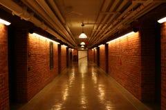 Dark Hallway. Prison-looking image of Hallway under old building Stock Photography