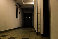 Dark hallway creepy. Scene night Royalty Free Stock Images
