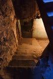 Dark hallway with pebbles Stock Photos