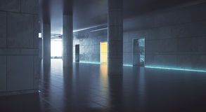 Dark hallway wiith daylight Royalty Free Stock Image