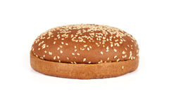 Dark hamburger bun Stock Image