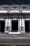 Dark HDR photo of the Central railway station in Milan, Italy. Royalty Free Stock Images