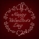 03 Dark heart lettering. Vector illustration of the white lettering on the dark heart background Royalty Free Stock Photography