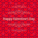 Dark Heart Red Valentine Background Royalty Free Stock Photos