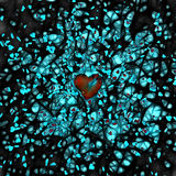 Dark Hearts Stock Images