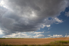 Dark and  heavy clouds Stock Photo