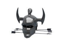 Dark helmet and some arrows Royalty Free Stock Photos