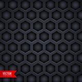 Dark hexagonal pattern background design Royalty Free Stock Photos