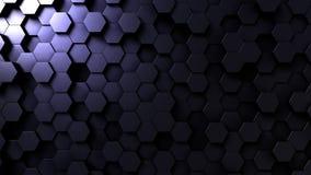 Dark hexagonal shapes stock illustration