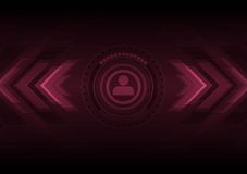 Dark hi-tech background with HUD interface and arrows Royalty Free Stock Image