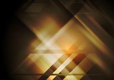Dark hi-tech geometric abstract background Royalty Free Stock Image
