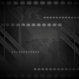Dark hi-tech vector background Stock Images