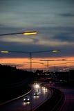 Dark highway Royalty Free Stock Images