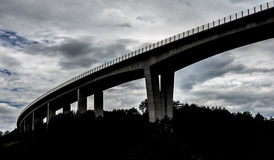 Dark highway overpass Stock Images