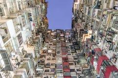 Dark Hole, Old dense apartment , Hongkong Stock Photo