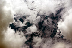 Dark hole in sky Royalty Free Stock Images