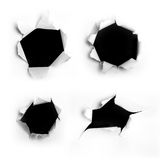 Dark holes Stock Photography