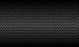 Dark Honeycomb Metallic Carbon Texture Background. Dark Honeycomb Metallic Carbon Texture Vector Graphic Background Design Stock Images