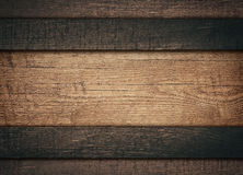 Dark horizontal wooden planks wood board with copy Stock Photos