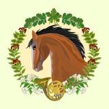Dark Horse hunting theme vector Stock Photo