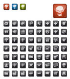 Dark icon set Royalty Free Stock Image