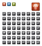 Dark icon set Stock Image