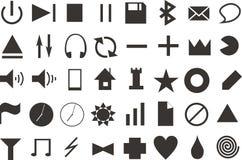 Dark icons Stock Photos