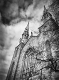 Dark, imposing and ominous Church Image Royalty Free Stock Image