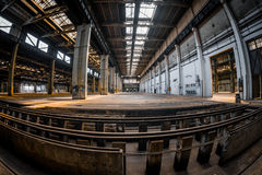 Dark industrial interior of a building Stock Photography