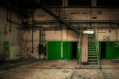 Dark industrial interior Stock Photo