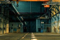 Dark industrial interior Stock Photos