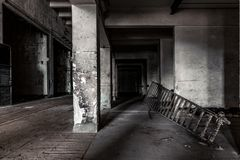 Dark industrial interior Stock Image
