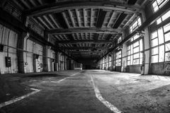 Dark industrial interior Royalty Free Stock Photography
