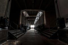 Dark industrial interior Royalty Free Stock Images