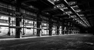 Dark industrial interior Stock Photography