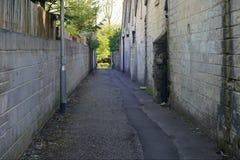 Dark Innercity Alleyway Stock Photography