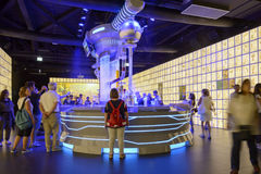 Dark inside of Russia pavillon, EXPO 2015 Milan Stock Photo