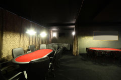 Dark interior of european casino Royalty Free Stock Photos