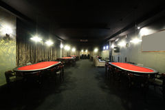 Dark interior of european casino. Luxury and stylish interior of european casino Stock Photo