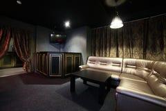 Dark interior of european casino. Luxury and stylish interior of european casino Royalty Free Stock Images