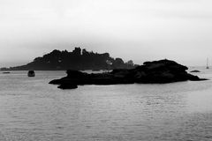 Dark island in Brittany Royalty Free Stock Photo