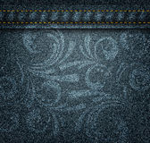 Dark jeans texture Stock Photography