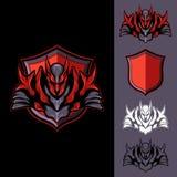 Dark Knight vermelho ilustração royalty free