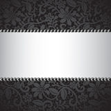 Dark lace card Royalty Free Stock Photo