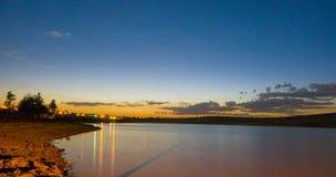 Dark lake. Image taken of a still lake minutes after sunset Royalty Free Stock Photo